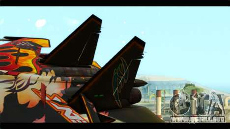 SU-35 Flanker-E Tekken para GTA San Andreas vista posterior izquierda