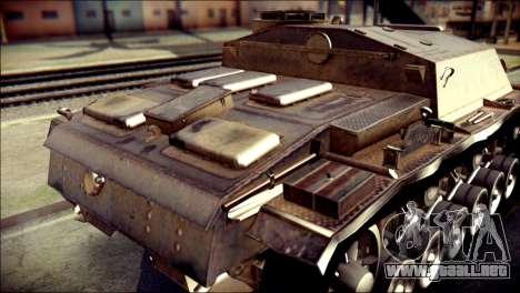 StuG III Ausf. G para GTA San Andreas vista hacia atrás