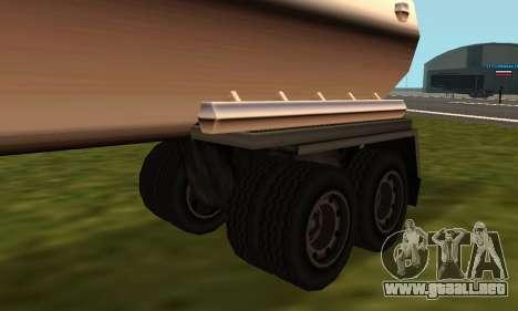 PS2 Petrol Trailer para GTA San Andreas vista posterior izquierda