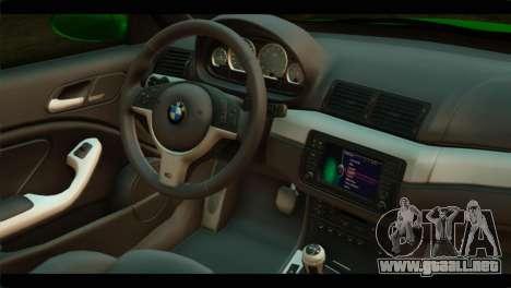 BMW M3 E46 Stock para la visión correcta GTA San Andreas