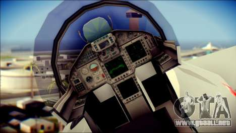 EuroFighter Typhoon 2000 Luftwaffe para GTA San Andreas vista hacia atrás