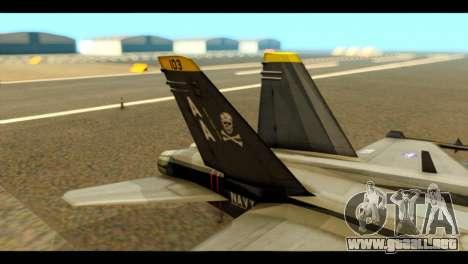 FA-18 Jolly Roger Black para GTA San Andreas vista posterior izquierda