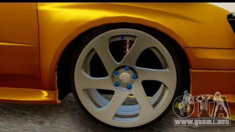 Subaru Impreza WRX STI para GTA San Andreas vista hacia atrás