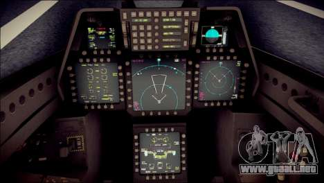 F-22 Raptor Desert Camo para la visión correcta GTA San Andreas