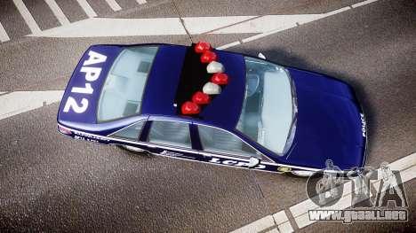 Chevrolet Caprice 1993 LCPD WH Auxiliary [ELS] para GTA 4 visión correcta
