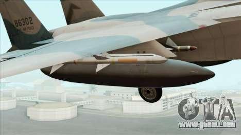 McDonnell Douglas F-15D Philippine Air Force para la visión correcta GTA San Andreas