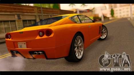 GTA 5 Dewbauchee Super GT para GTA San Andreas left