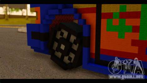 Minecraft Elegant para GTA San Andreas vista posterior izquierda