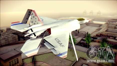 F-22 Raptor Thunderbirds para GTA San Andreas left