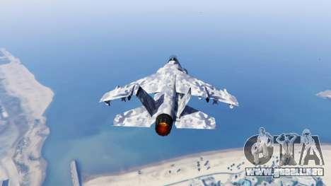 GTA 5 Hydra light blue camouflage tercera captura de pantalla