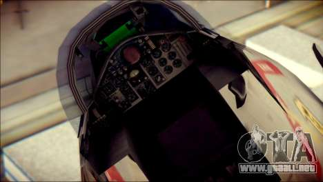 McDonnell Douglas F-4B Phantom II para GTA San Andreas vista hacia atrás