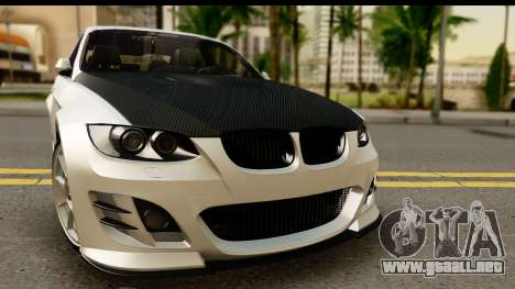 BMW M3 E90 Hamann para GTA San Andreas vista posterior izquierda