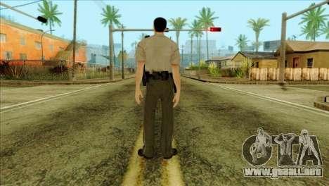 Depurty Alex Shepherd Skin para GTA San Andreas segunda pantalla