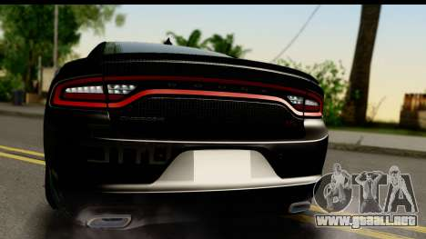 Dodge Charger RT 2015 Sword Art para la visión correcta GTA San Andreas