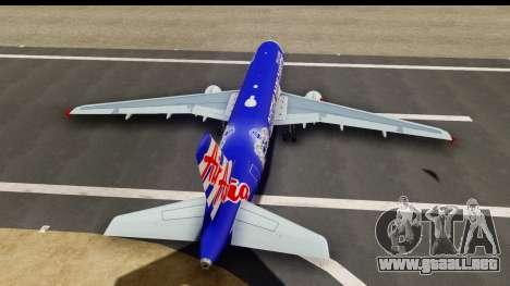 Airbus A320-200 AirAsia Queens Park Rangers para visión interna GTA San Andreas