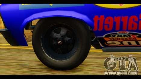 Chevy Nova NOS DRAG para GTA San Andreas vista posterior izquierda