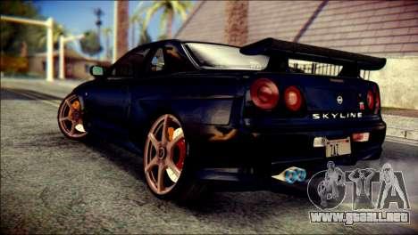 Nissan Skyline GTR V Spec II v2 para GTA San Andreas left