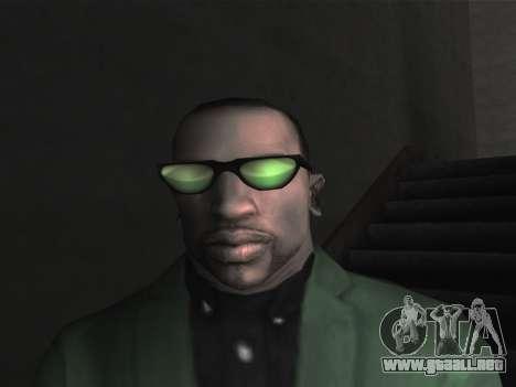Las gafas nuevas para CJ para GTA San Andreas tercera pantalla