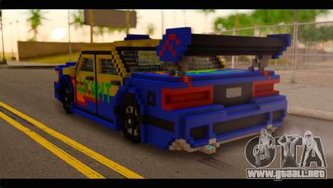 Minecraft Elegant para GTA San Andreas left