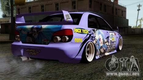 Subaru Impreza WRX STI 5pb Itasha para GTA San Andreas left