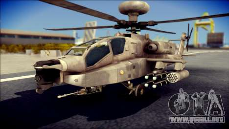 AH64 Apache MOHW para GTA San Andreas