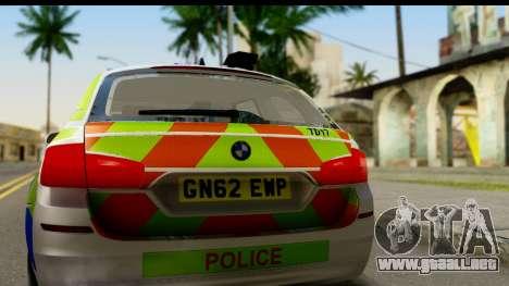 BMW 530d Kent Police RPU para la visión correcta GTA San Andreas
