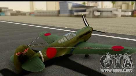 P-40E Kittyhawk IJAAF para visión interna GTA San Andreas