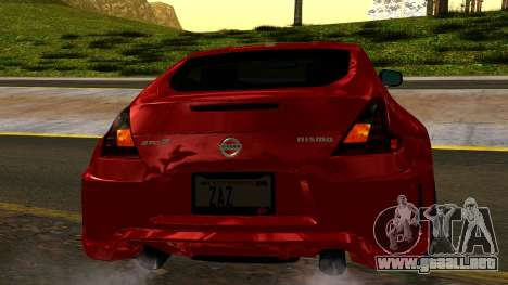 Nissan 370Z Nismo 2010 para vista lateral GTA San Andreas