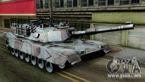 M1A2 Abrams Woodland Blue Camo para GTA San Andreas