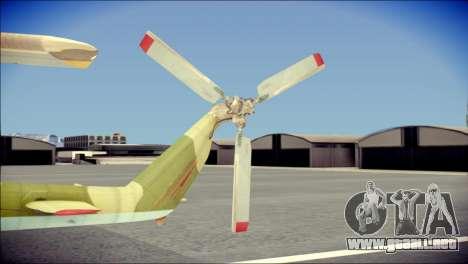 Mi-8 Hip para GTA San Andreas vista posterior izquierda