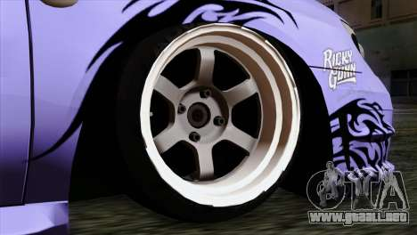 Subaru Impreza WRX STI 5pb Itasha para GTA San Andreas vista posterior izquierda