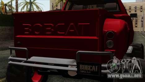 Bobcat Fx4 para GTA San Andreas vista hacia atrás
