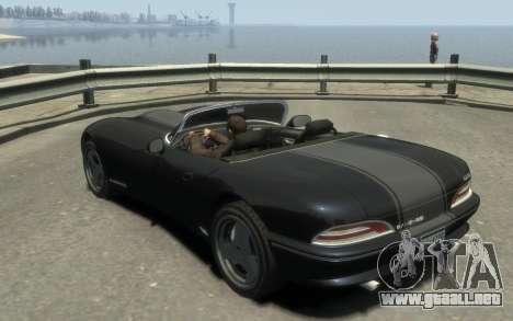 GTA 3 Bravado Banshee HD para GTA 4 visión correcta