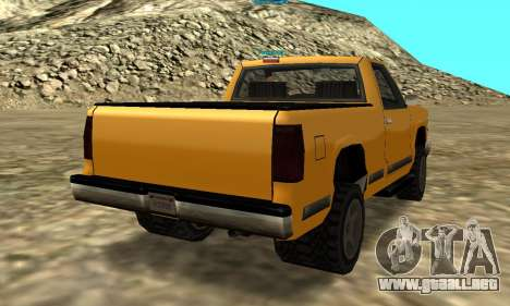 PS2 Yosemite para GTA San Andreas vista hacia atrás