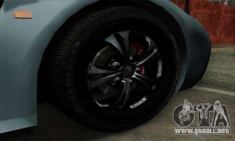Mitsuoka Orochi Nude Top Roadster para GTA San Andreas vista posterior izquierda
