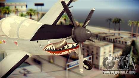 EMB 314 Super Tucano Colombian Air Force para GTA San Andreas vista hacia atrás