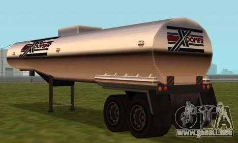 PS2 Petrol Trailer para la visión correcta GTA San Andreas