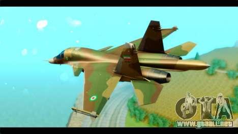 Sukhoi SU-34 IRIAF para GTA San Andreas left