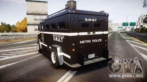 GTA V Brute Police Riot [ELS] skin 5 para GTA 4 Vista posterior izquierda