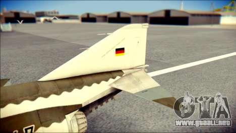 McDonnell Douglas F-4F Luftwaffe para GTA San Andreas vista posterior izquierda