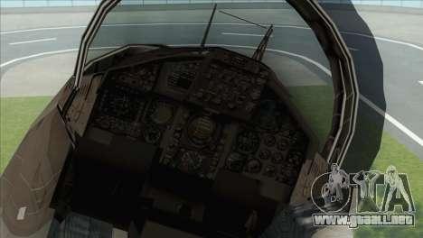 McDonnell Douglas F-15D Philippine Air Force para GTA San Andreas vista hacia atrás