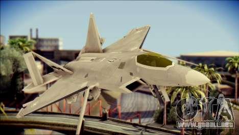 F-22 Gryphus, Falco and Antares para GTA San Andreas vista hacia atrás
