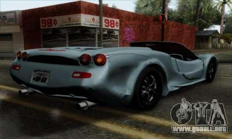 Mitsuoka Orochi Nude Top Roadster para GTA San Andreas left