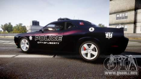 Dodge Challenger SRT8 Police [ELS] para GTA 4 left