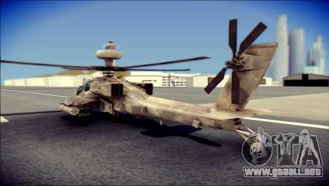 AH64 Apache MOHW para GTA San Andreas left