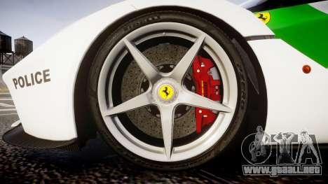 Ferrari LaFerrari 2013 HQ [EPM] PJ2 para GTA 4 vista hacia atrás