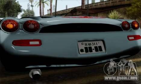 Mitsuoka Orochi Nude Top Roadster para GTA San Andreas vista hacia atrás