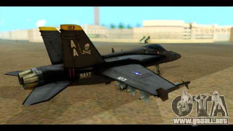 FA-18 Jolly Roger Black para GTA San Andreas left