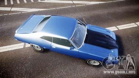 Ford Falcon XB GT351 Coupe 1973 para GTA 4 visión correcta