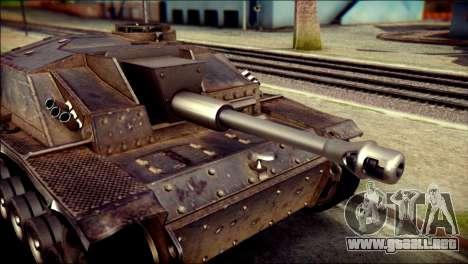 StuG III Ausf. G para GTA San Andreas vista posterior izquierda